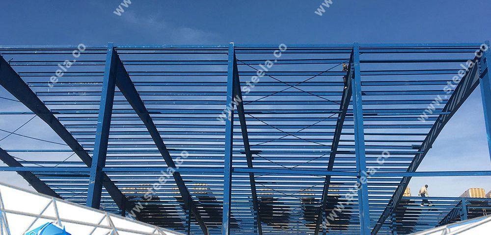 استیلا-اسکلت فلزی-مزایای ساخت اسکلت فلزی پیچ و مهره ای